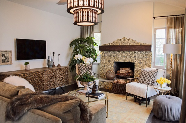 American Dream Builders spanish living room