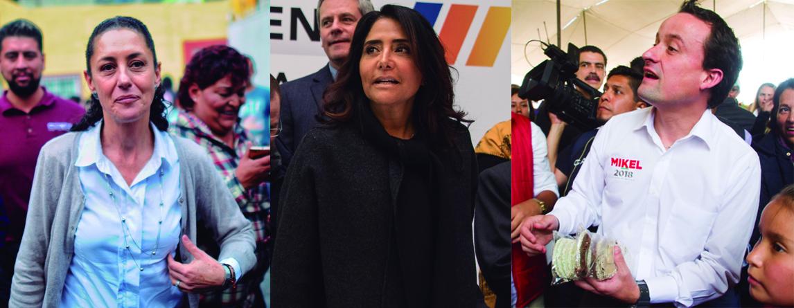 Claudia Sheinbaum, Alejandra Barrales y Mikel