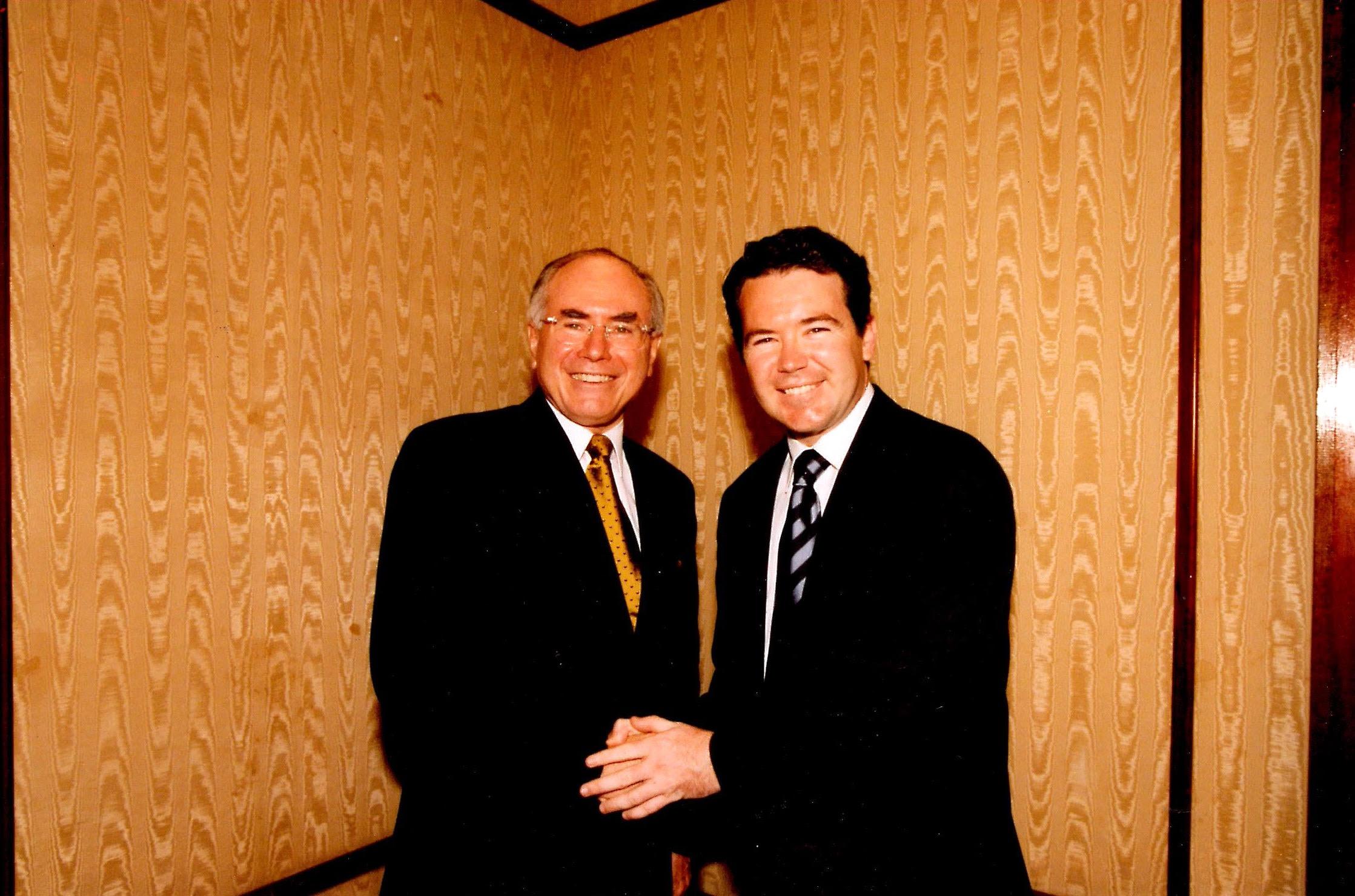 Former Prime Minister John Howard and Dean