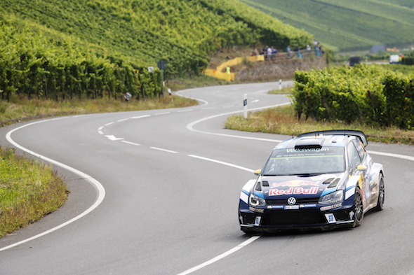 Andreas Mikkelsen (NOR)  performs during  FIA World Rally Championship 2016 Germany in Trier , Germany on August 19, 2016