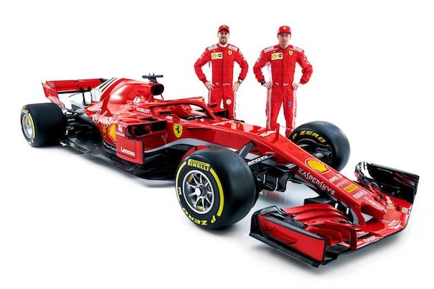 スクーデリア・フェラーリ、2018年の戦う新F1マシン「SF71H」発表!高速域性能を高めメルセデスに挑む!