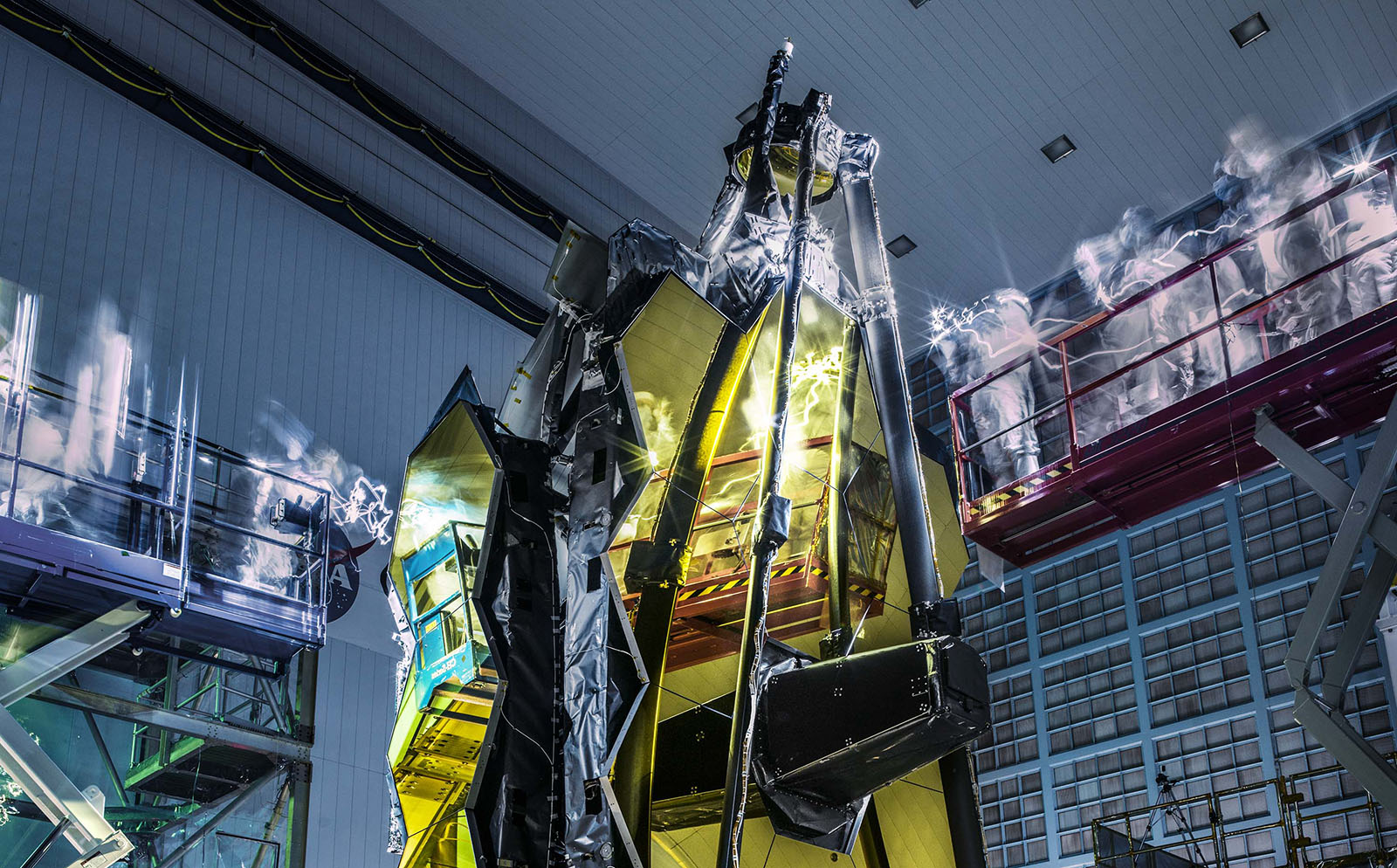 Lights out inspection of the James Webb Space Telescope