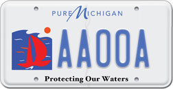 State of michigan environmental license plate