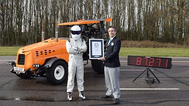 『トップギア』、トラクターで最高速度140km/hを達成しギネス記録に認定!