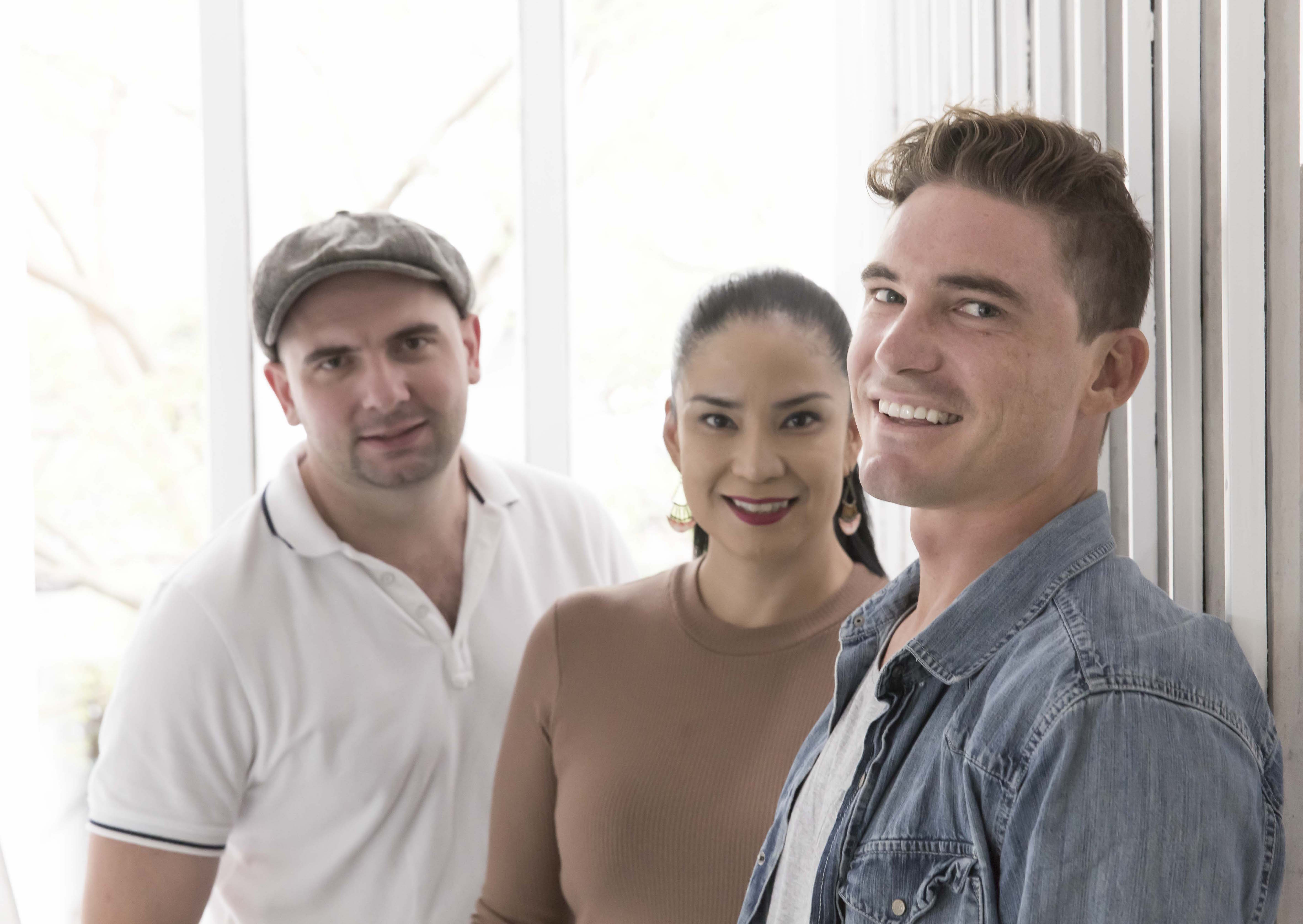 Clapit co-founders from left, Stan Tsvirko, Mary Jane Bulseco and Paul Bedwell say it's important to...