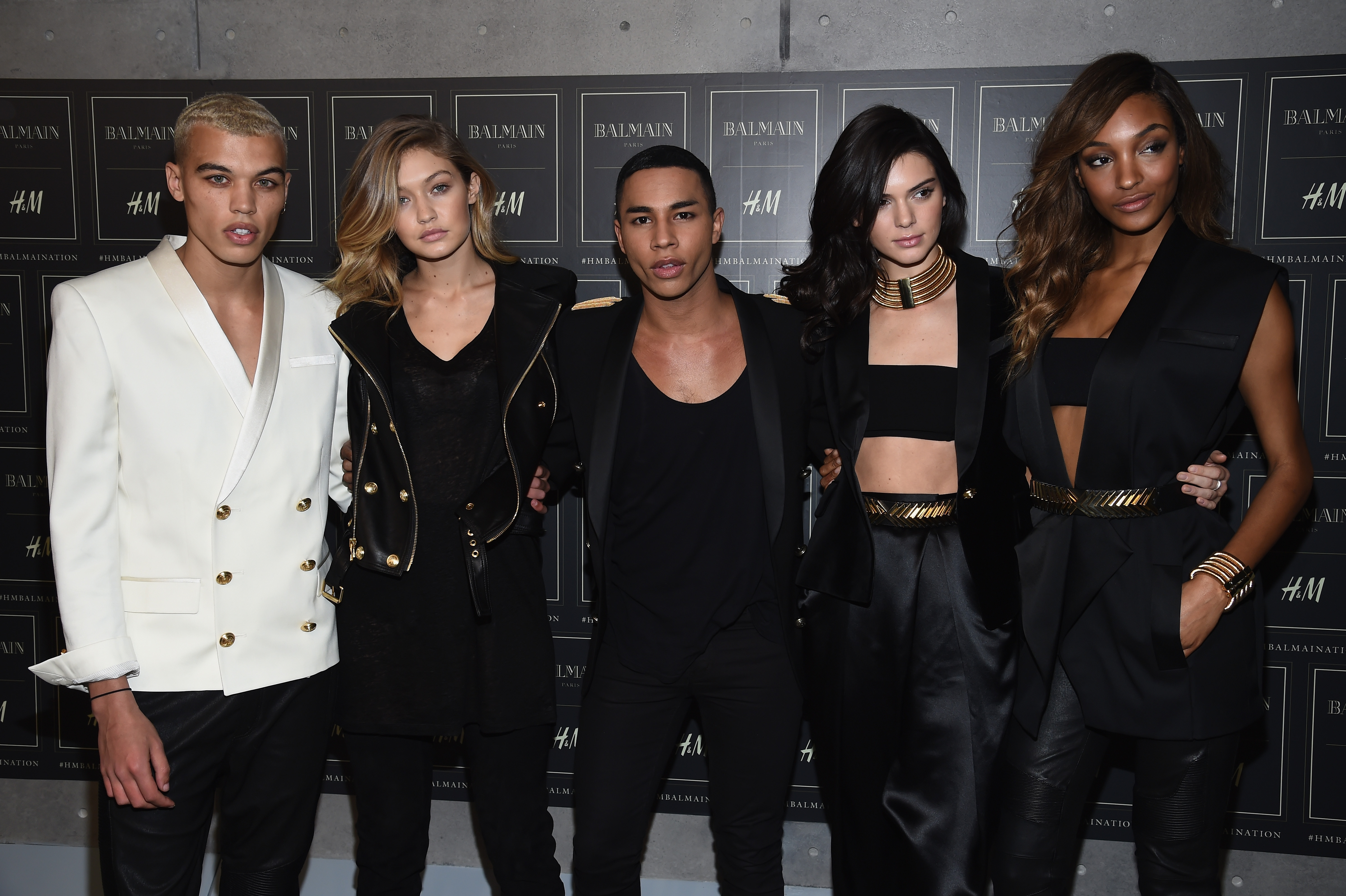 Olivier Rousteing and his Balmain army.