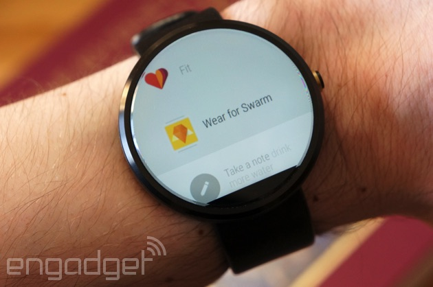 Wear for Swarm on a Moto 360