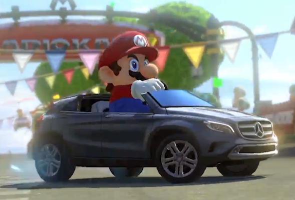 Mario in a Mercedes