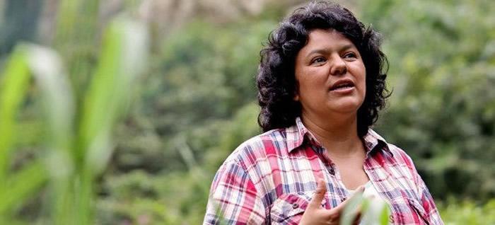 La líder hondureña asesinada, Berta