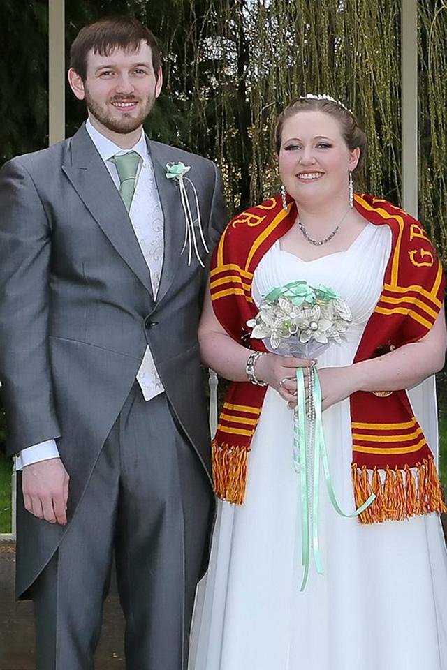 Zoe and Alex's Harry Potter wedding