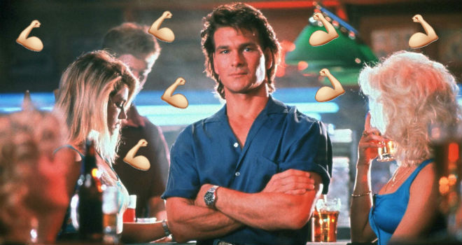 Patrick Swayze as Dalton in the greatest movie ever made, ROAD HOUSE