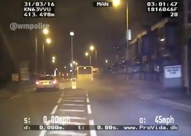 Police dashcam captures dramatic stolen bus chase