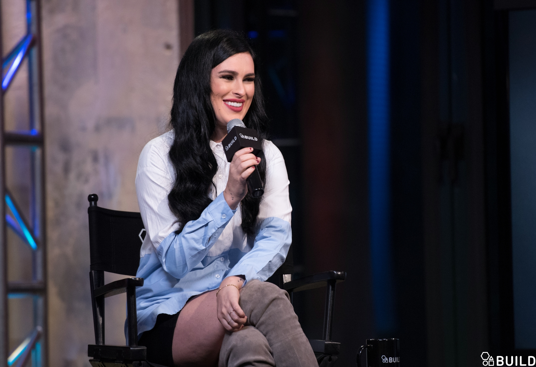 Rumer Willis visits AOL Hq for Build on October 20, 2016 in New York. Photos by Noam Galai