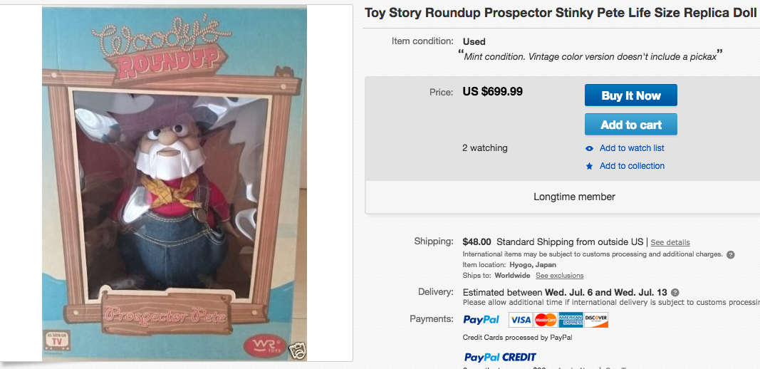 8644559979a6 Here are 5  Toy Story  toys that you might still own and are worth a ...