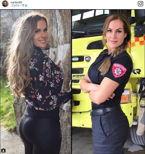 「世界一セクシーな消防士」と話題のノルウェー人女性