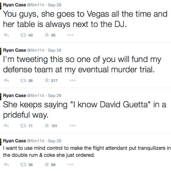 Modern Family editor live tweets fellow plane passenger's drunk meltdown