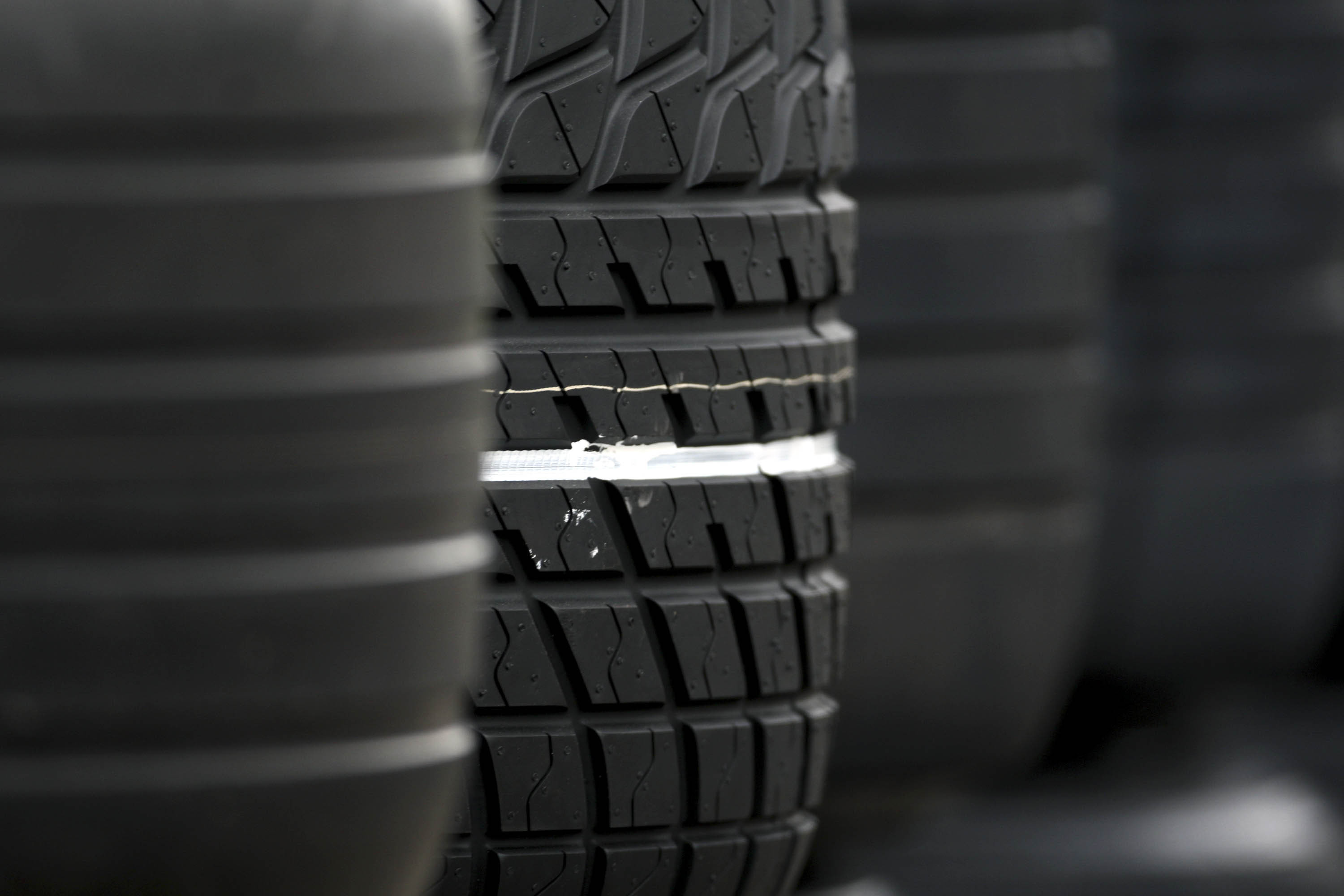 General view of tyres
