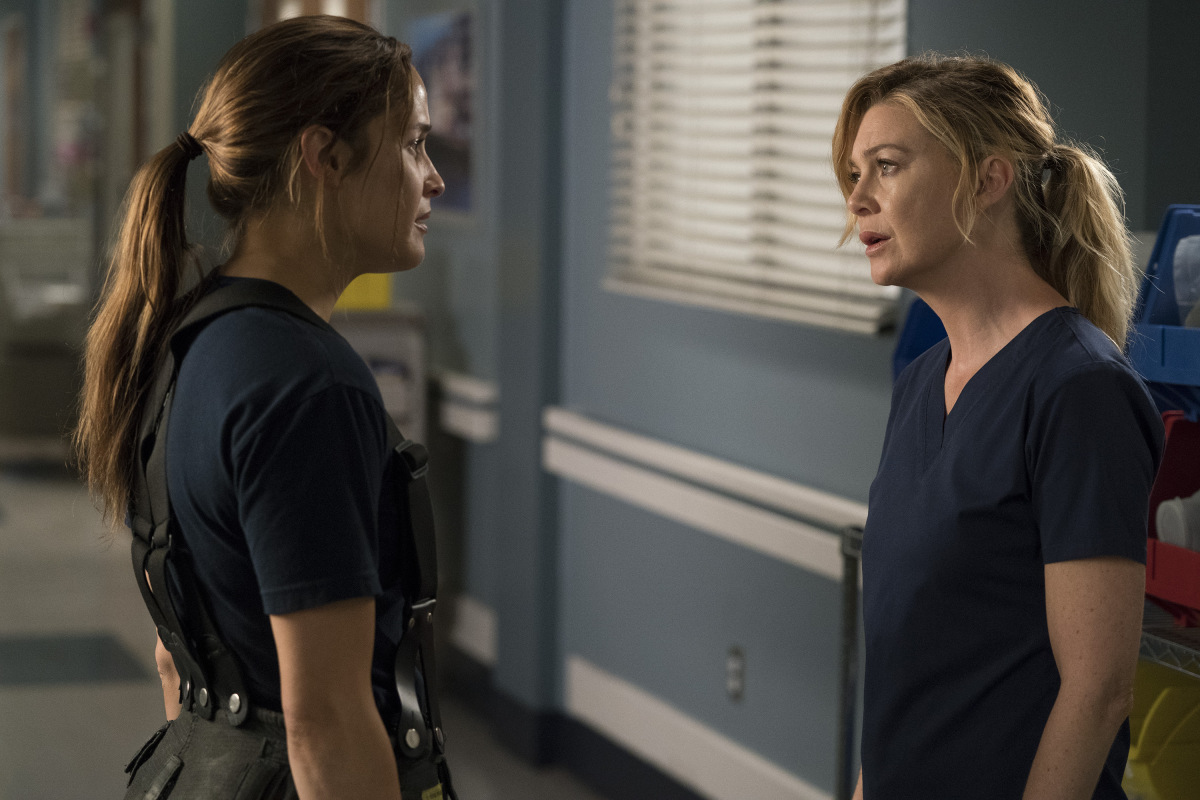 """GREY'S ANATOMY SPINOFF - The latest series from the Executive Producers of """"Grey�s Anatomy,"""" """"Scandal"""" and """"How to Get Away with Murder"""" follows a group of heroic firefighters at Seattle Fire Station 19 - from captain to newest recruit - as they risk their lives and their hearts both in the line of duty and off the clock. These brave men and women are like family, literally and figuratively, and together they put their own lives in jeopardy as first responders to save the lives of others. (ABC/Mitch Haaseth) JAINA LEE ORTIZ, ELLEN POMPEO"""