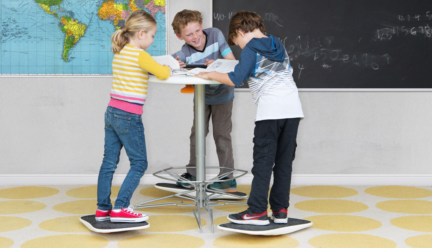 Theres a standing desk and balance board for kids now