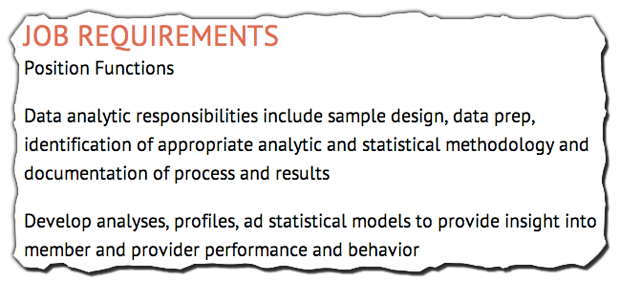 Job Descriptions Decoded: Healthcare Analytics Analyst