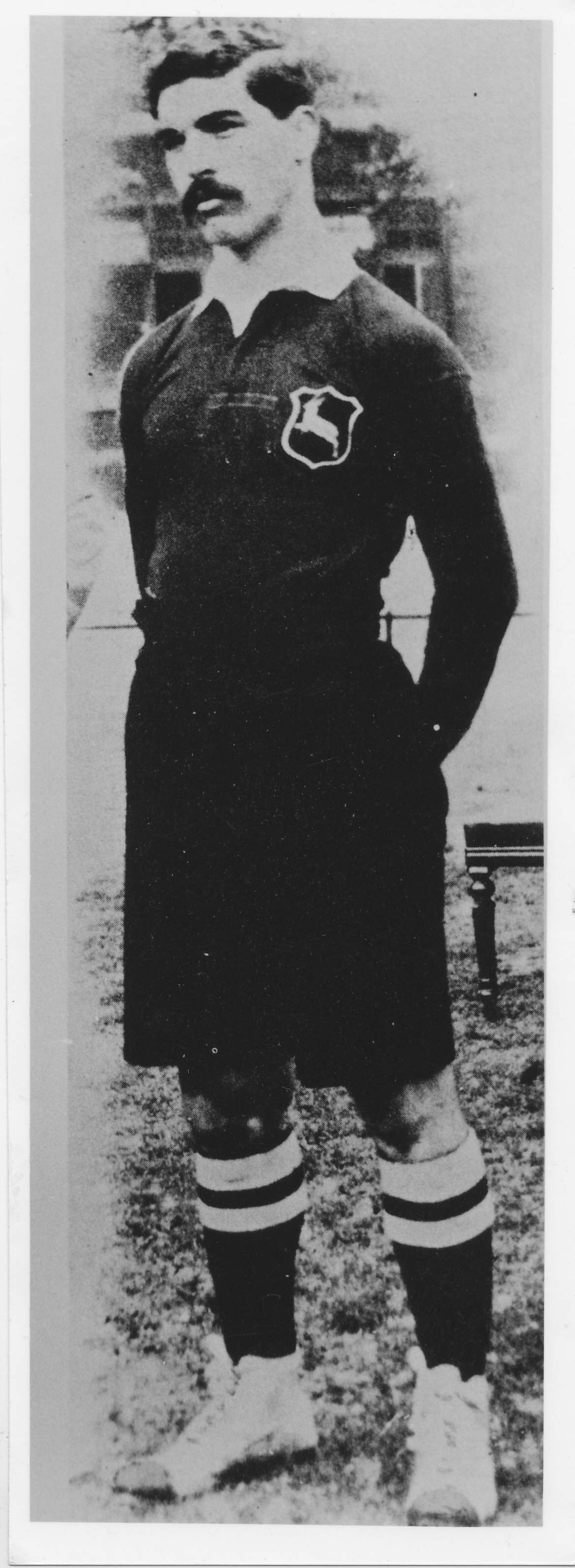 Paul Roos, the first Springbok rugby captain, in 1906. He led a team to Britain four years after the...