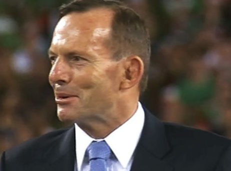 Tony Abbott at the 2014 NRL Grand