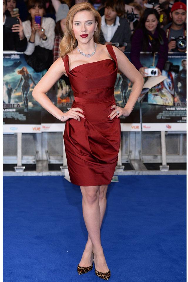 LONDON, ENGLAND - MARCH 20:  Scarlett Johansson attends the UK Film Premiere of