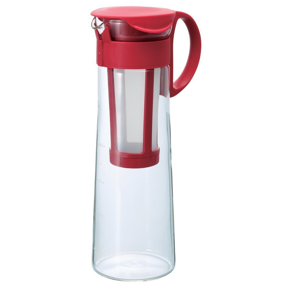 Hario Water Brew Coffee Pot, 1000ml, Red