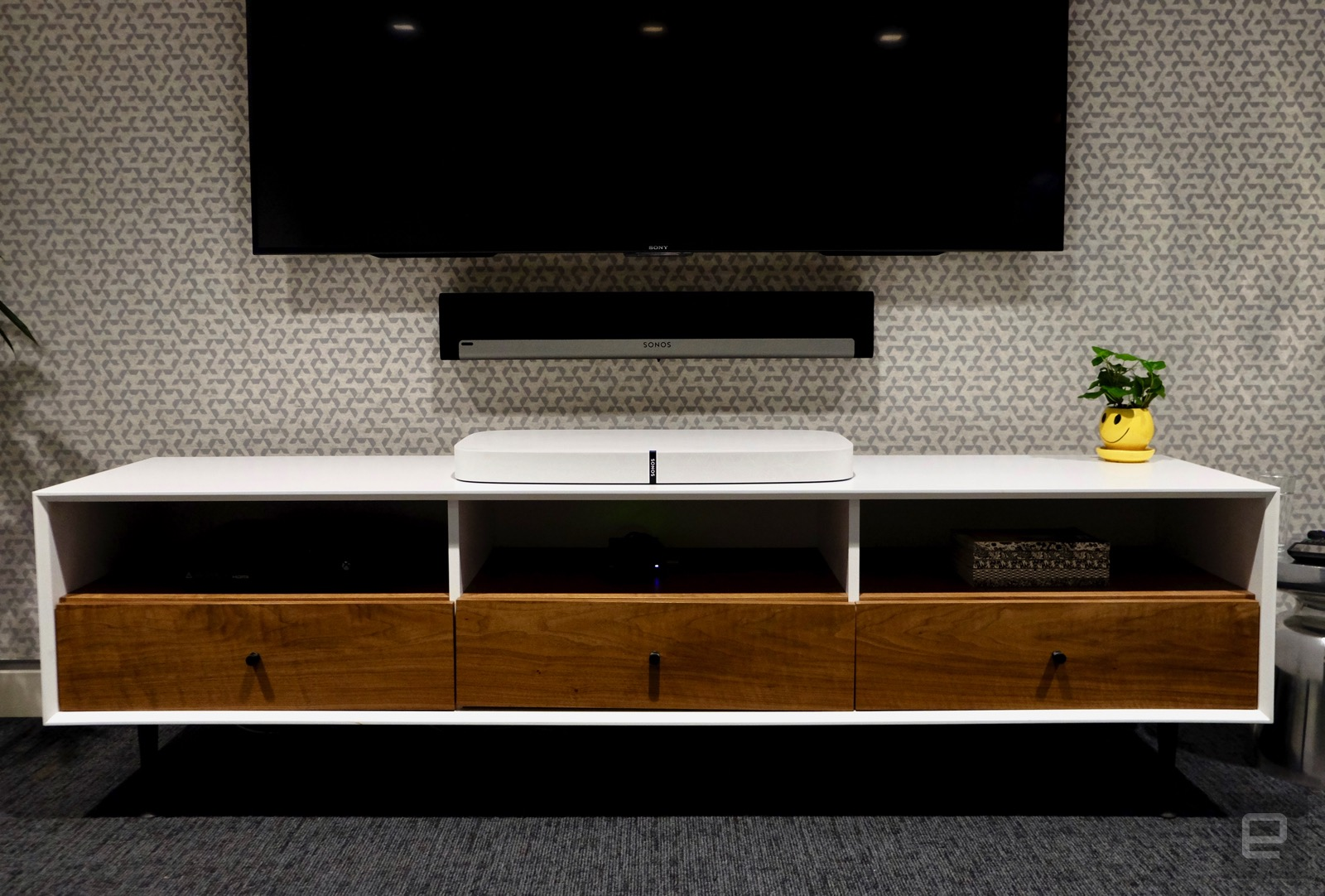 How Sonos Made The New Playbase Sound A Lot Better Than It Should Wiring Diagram Of Course That Design Choice Was Very Deliberate One Which Will Be Available Worldwide On April 4th Is Meant To Live Media Stand