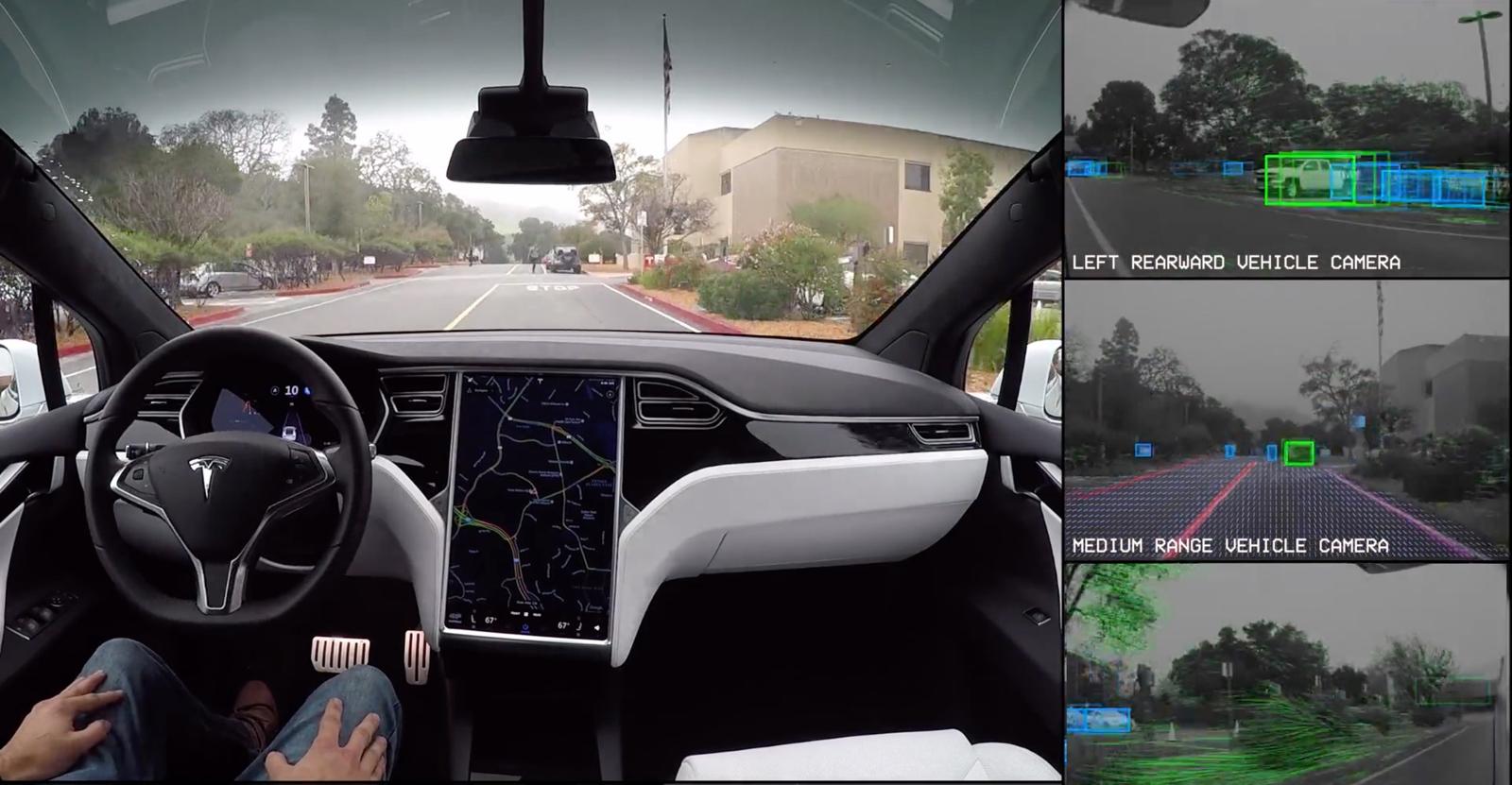 以汽車視角來體驗 Tesla 的自駕功能