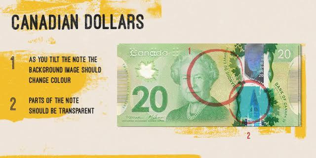 fake canadian dollar