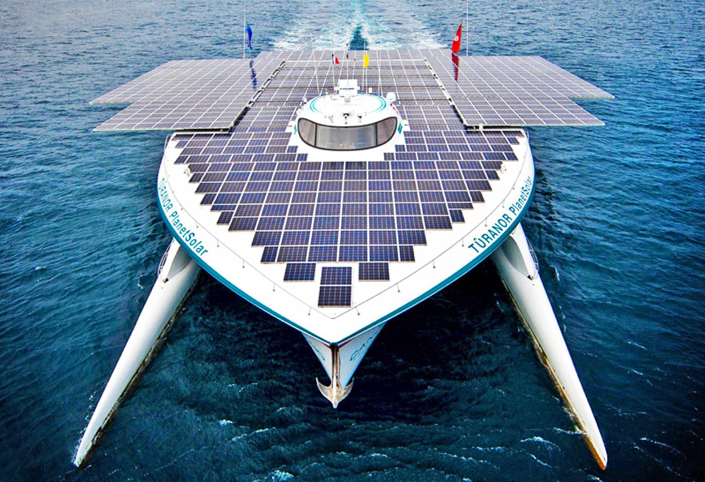 Six sun-powered ships