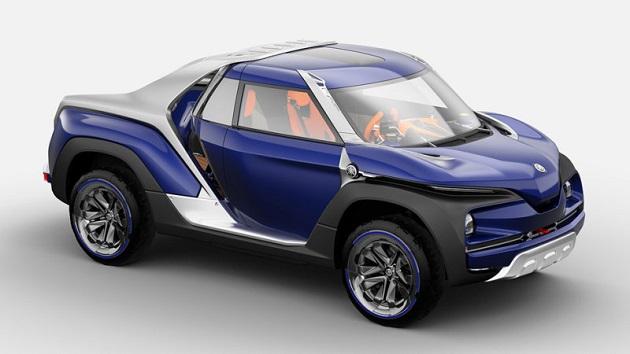 【東京モーターショー2017】ヤマハ、一風変わった見た目をしたピックアップ・トラック「クロスハブ コンセプト」を披露