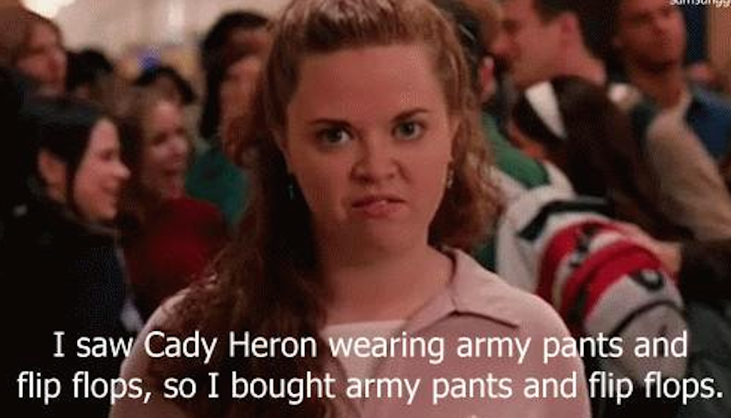 38aa5490b7dd6a Army pants and flip flops girl from  Mean Girls  was in an Oscar winning  film and you had no idea