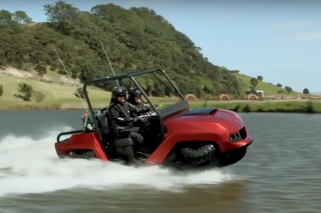 【ビデオ】水陸両用車メーカーのギブス、3種の新型モデルをモーターサイクルショーで公開