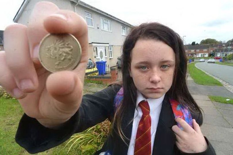 Girl refused bus ticket with old £1 coin
