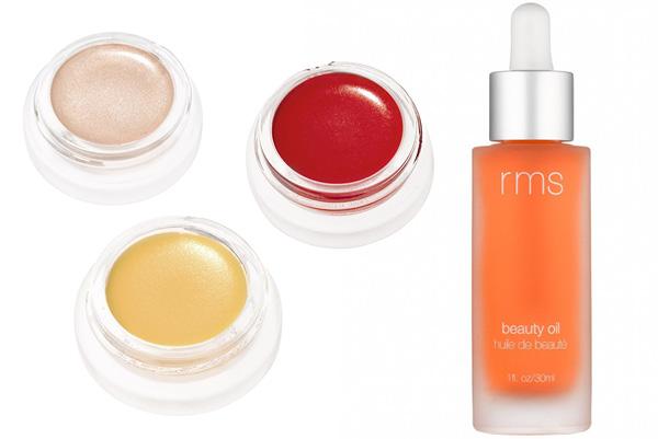 RMS Beauty Magic Luminizer, $47.50, Lip 2 Cheek in Beloved, $45, Lip & Skin Balm, $31, Beauty Oil,...