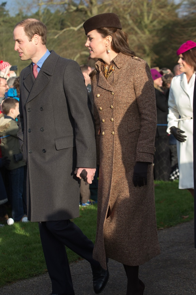 photographyrex 4328217c prince william and catherine duchess of cambridge christmas day church service sandringham norfolk britain 25 dec 2014 - Kate Middleton Christmas