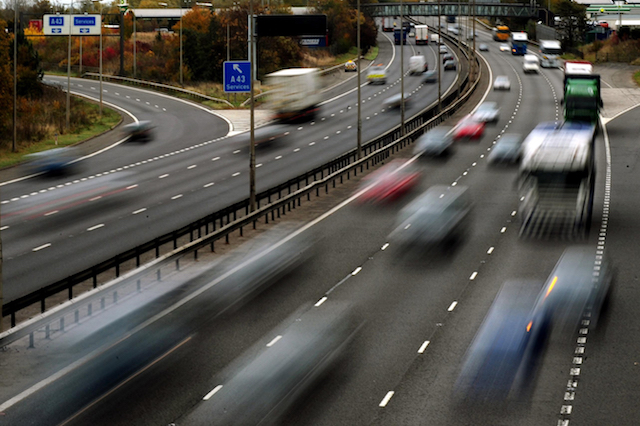 Embargoed to 0001 Thursday July 6 File photo dated 26/10/09 of traffic on a motorway. Personal injury payouts 17 times higher than in some other European countries are forcing up the cost of UK motor insurance, a study has found.