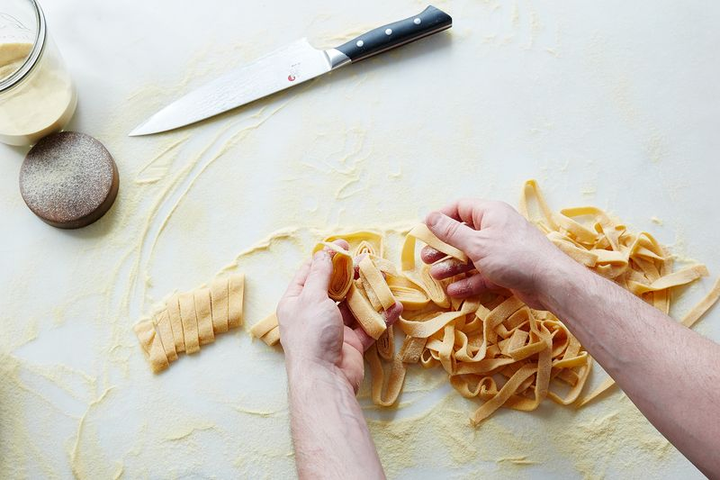 Homemade pasta dough