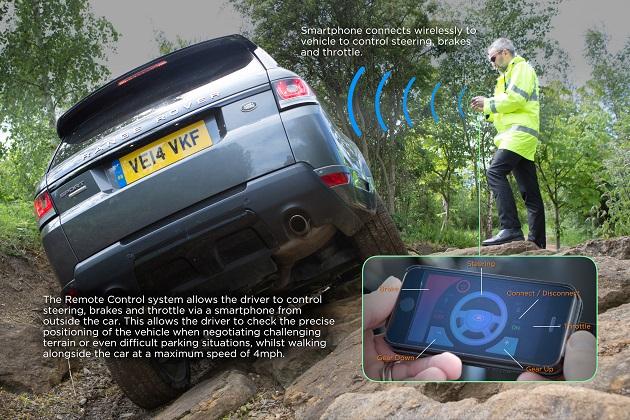 【ビデオ】スマートフォンを使って車外から操縦するランドローバーの最新技術で、オフロードを走破!