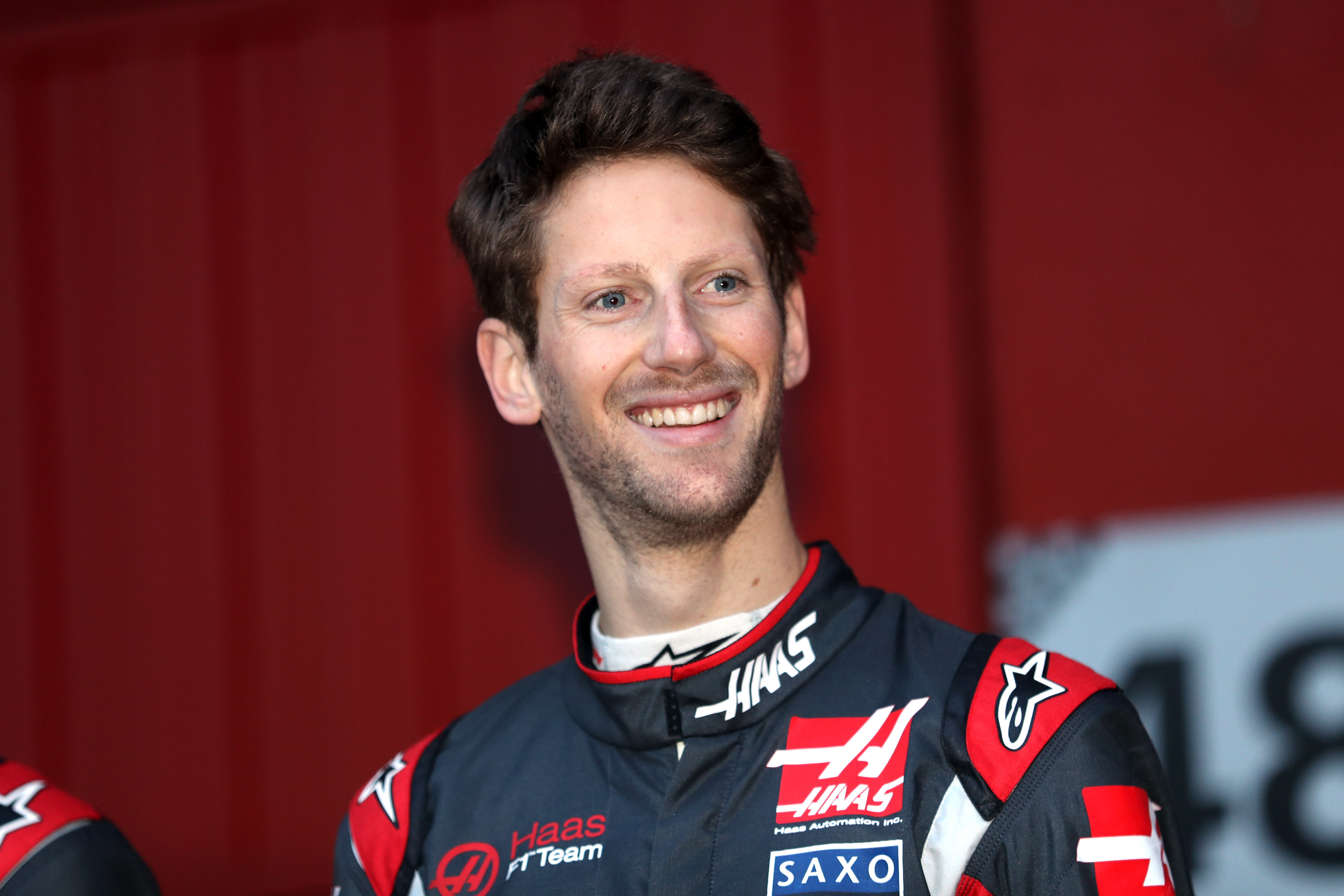 Haas Romain Grosjean during day one of testing at the Circuit de Catalunya, Barcelona.