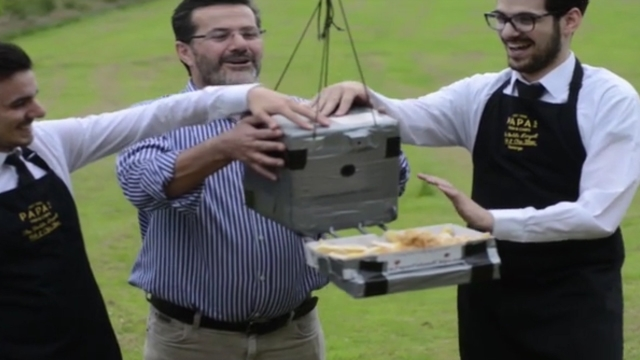 fish and chips sent to space