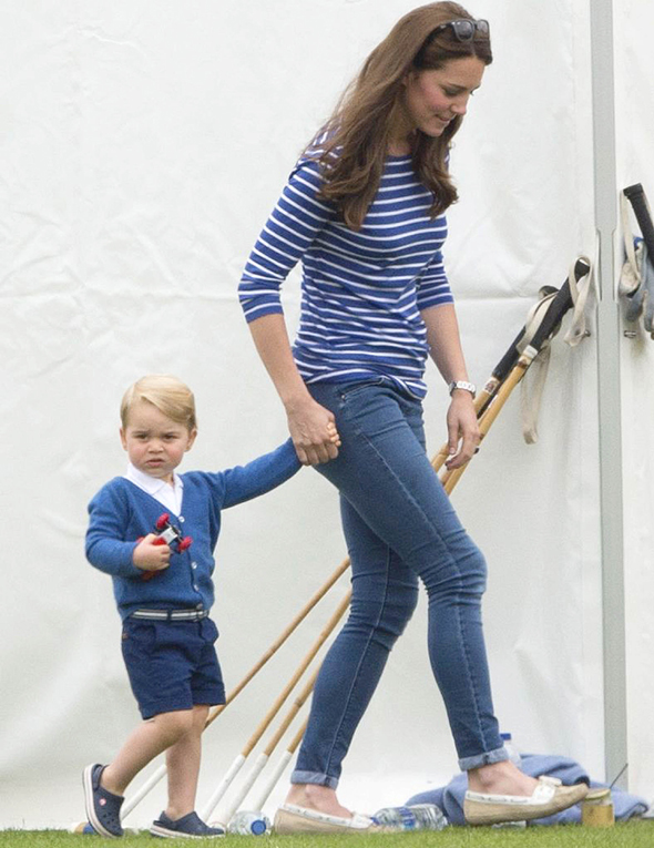 Mandatory Credit: Photo by Tim Rooke/REX Shutterstock (4848276ch) Catherine Duchess of Cambridge and Prince George British Royals at Beaufort Polo Club, Gloucestershire, Britain - 14 Jun 2015