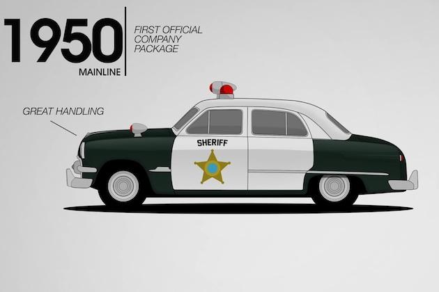 【ビデオ】フォードのパトカーが進化していく歴史を見られるクールなアニメーション!