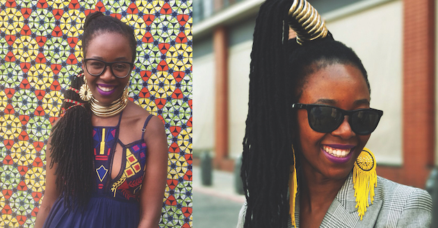 Lufuno is currently loving this glam Ndebele-inspired choker/ cuff