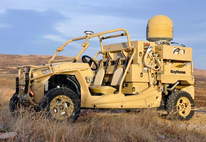 Raytheon's laser and microwave buggy test brought down 45 drones