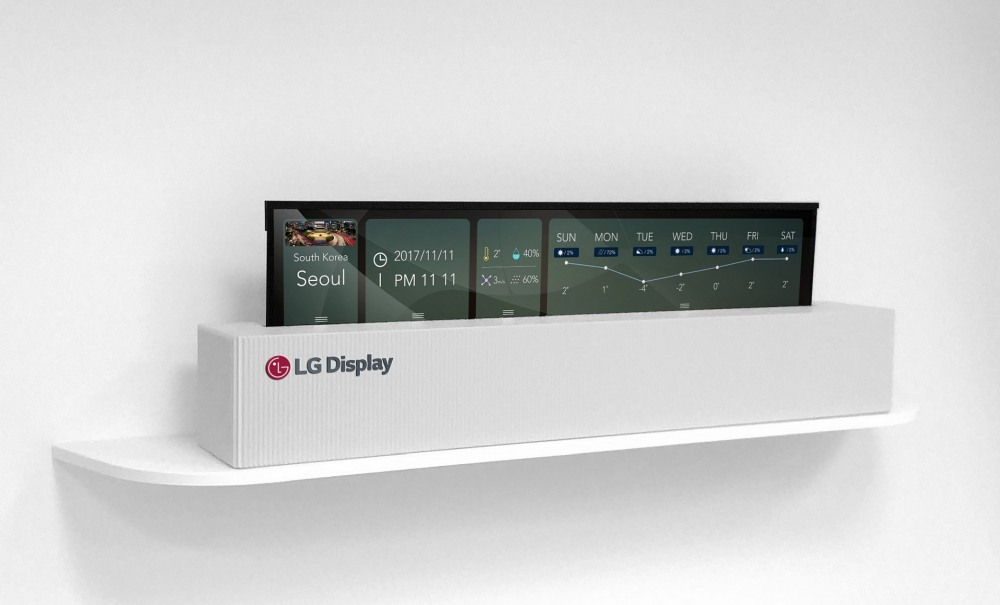 LG has made a 65-inch rollable OLED display