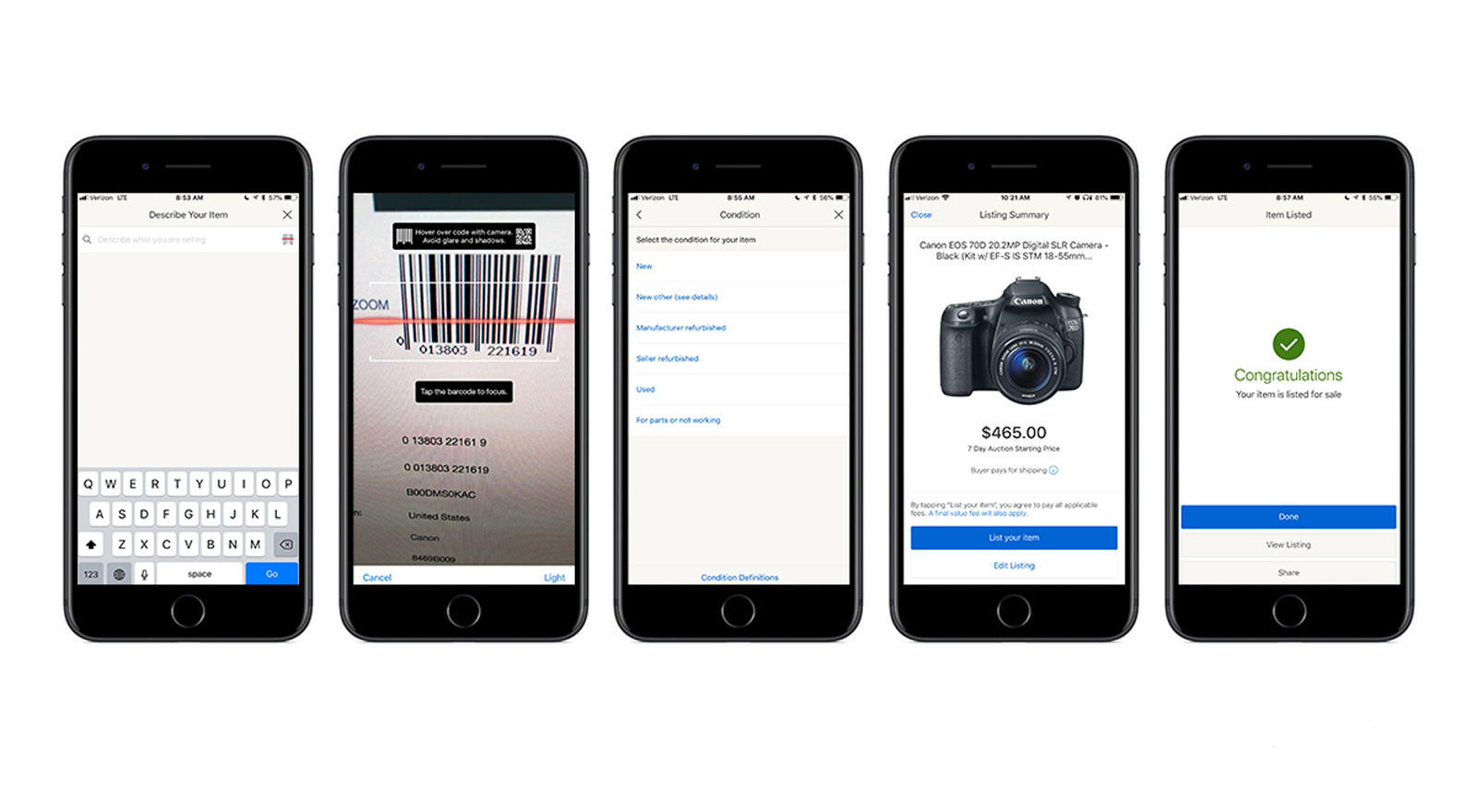 Ebay app update allows posting and selling items faster