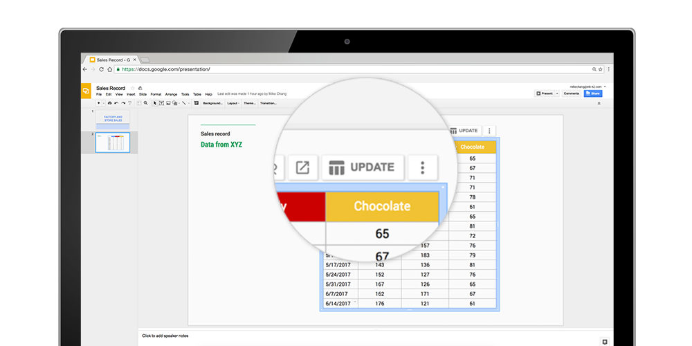 Google Sheets adds automatic charts, Docs & Slides sync, improved shortcuts and more